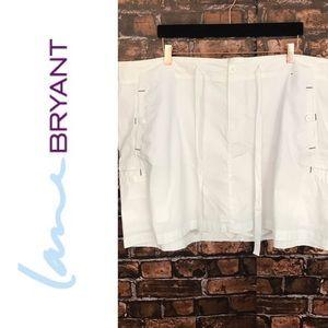 Lane Bryant White Skort with Drawstring